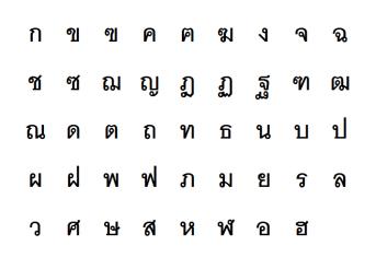 Thai-Language-Consonants